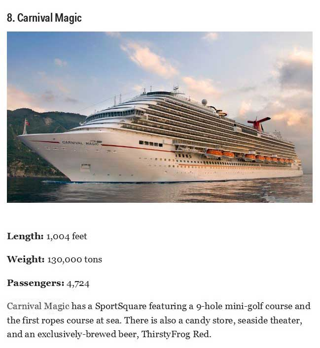 The Coolest And Biggest Cruise Ships On The Planet