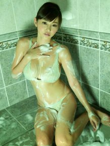 Asian Girl Anri Sugihara Wet in Stockings