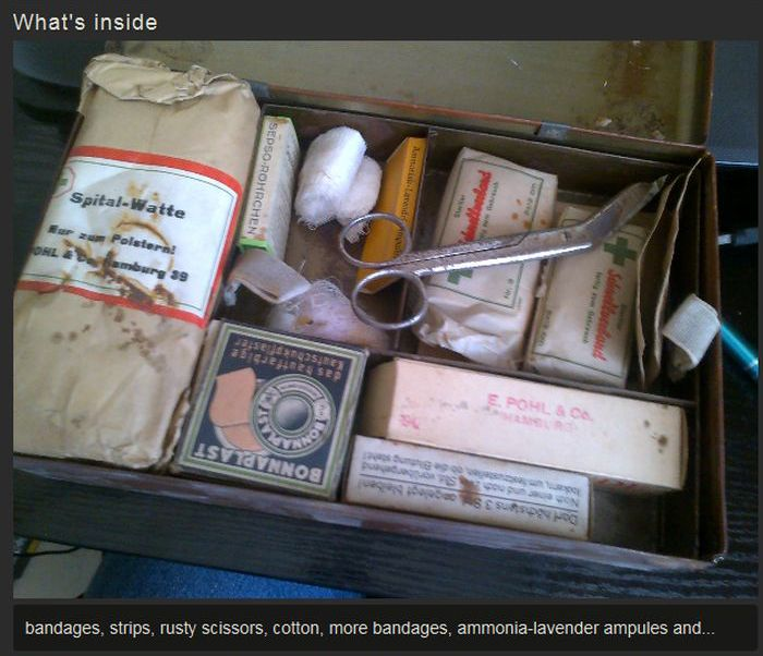 German Medical Kit Hidden In The Attic