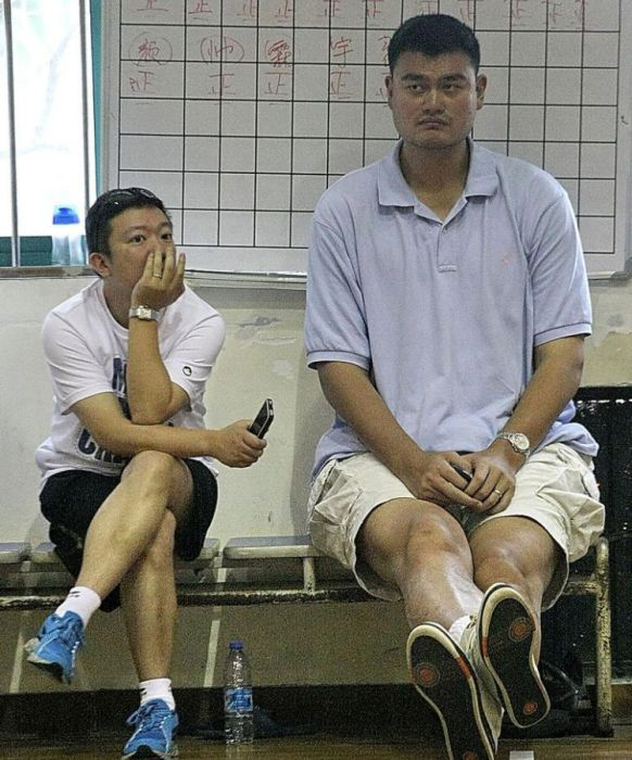 Yao Ming Makes Other People Look Like Ants