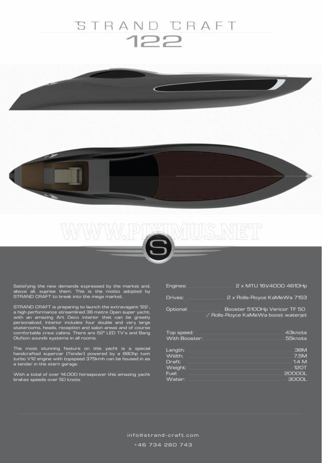 Super Yacht Strand Craft 122, part 122