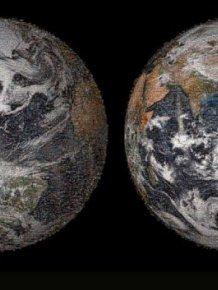 Planet Earth Made Up Of Selfies