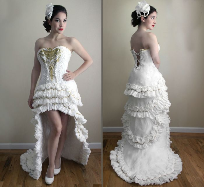 Wedding Dress Made Out Of Toilet Paper | Others