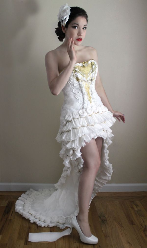 Wedding Dress Made Out Of Toilet Paper