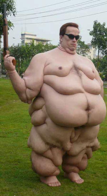 This Wax Statue Of Arnold Schwarzenegger Is Gross