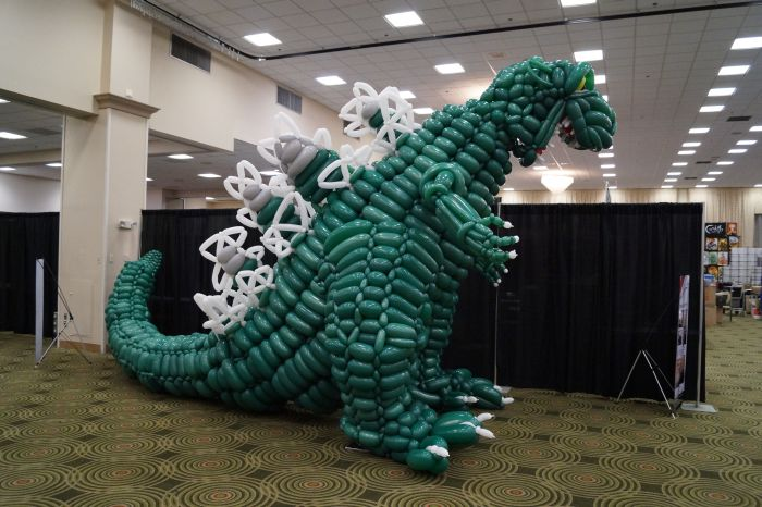 Godzilla Made Out Of 2500 Balloons