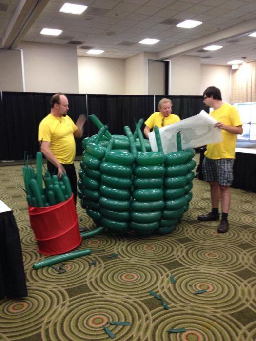 Godzilla Made Out Of 2500 Balloons