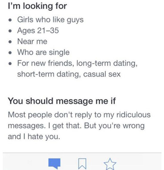 guys online dating profile