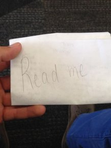 Touching Letter Hidden At The San Francisco Airport