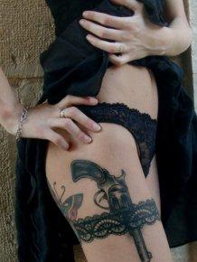 Girls with Gun Tattoos