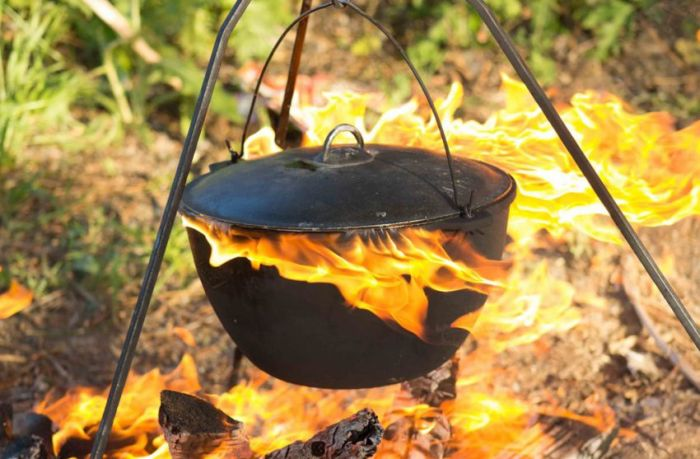 Epic Campfire Cooking Fail