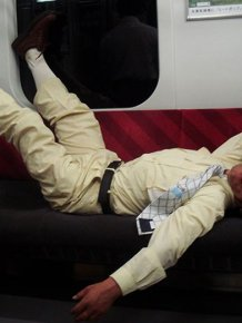 Businessmen Of Japan Get Drunk And Pass Out