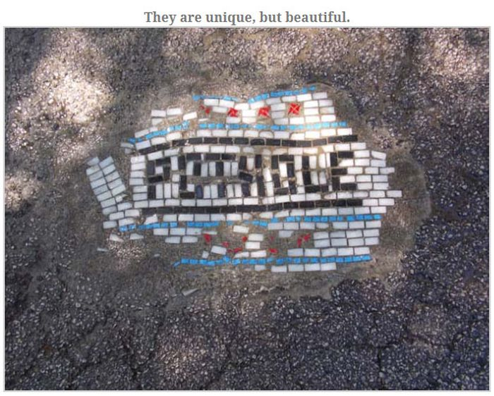 The Coolest Way To Cover Potholes