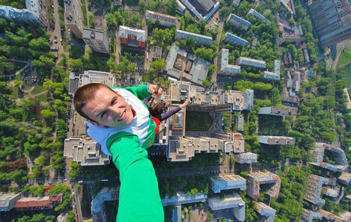 Terrifying Selfies From The World's Highest Places
