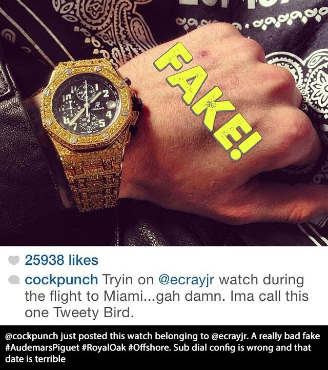 Real Rappers That Have Fake Watches