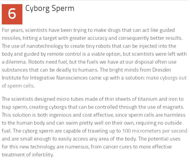 10 Weird But True Facts About Sperm