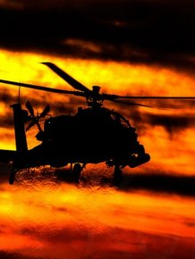 Apache Helicopters Look Epic In The Sunset