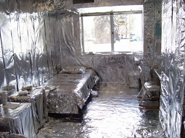 They Covered Their Friend's Entire Room In Tin Foil