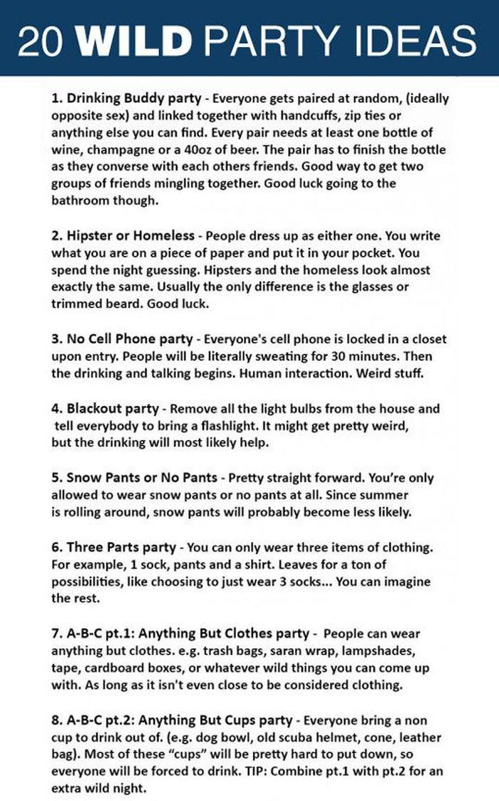 20 Unique Ideas For Your Next Party