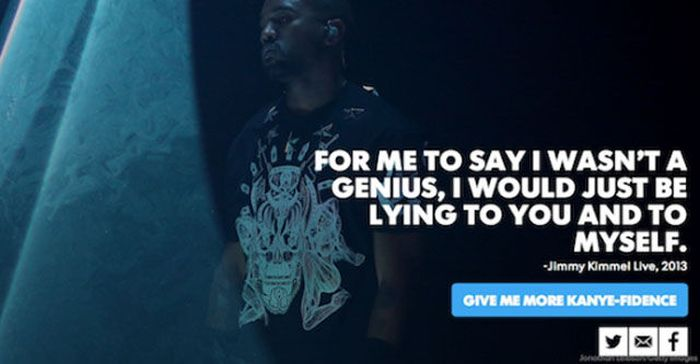 Kanye West Is His Own Biggest Fan