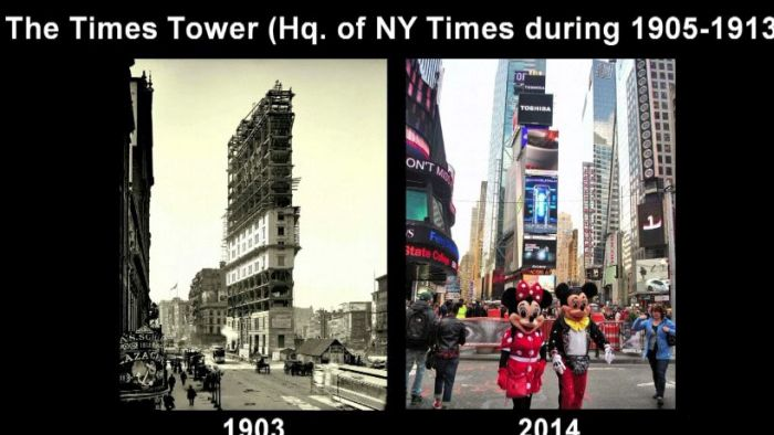 New York City Back In The Day And Today