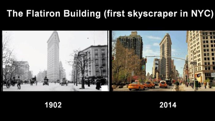 New York City Back In The Day And Today | Others