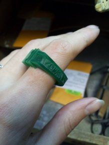This Homemade Wedding Ring Is Ballin'