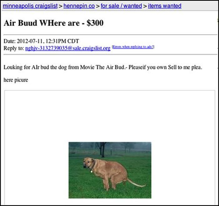 The Most Awkward Craigslist Ads Ever