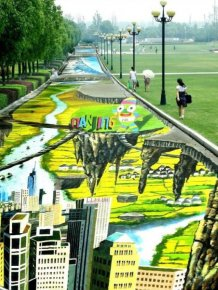 The Largest 3D Painting On The Planet