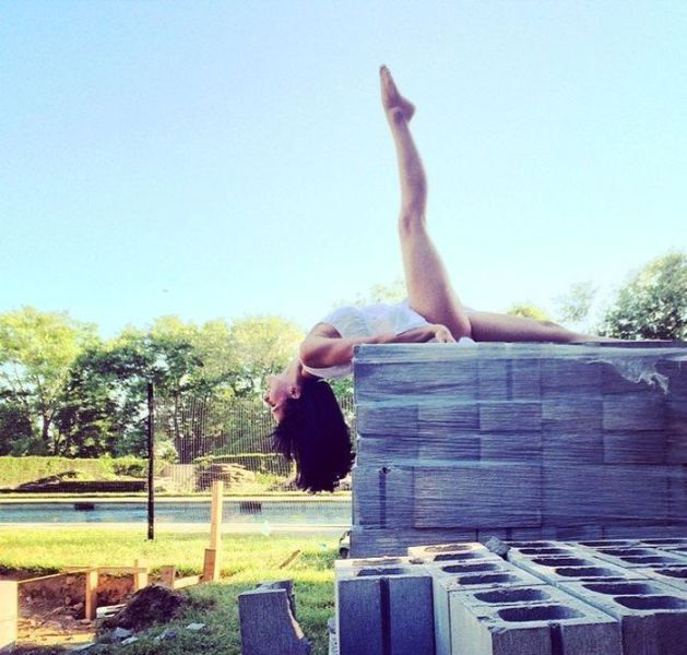 This Woman Does Yoga Everywhere