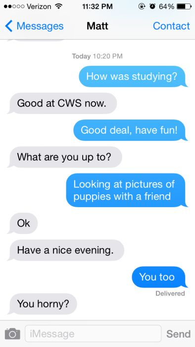 When A Man Texts A Woman