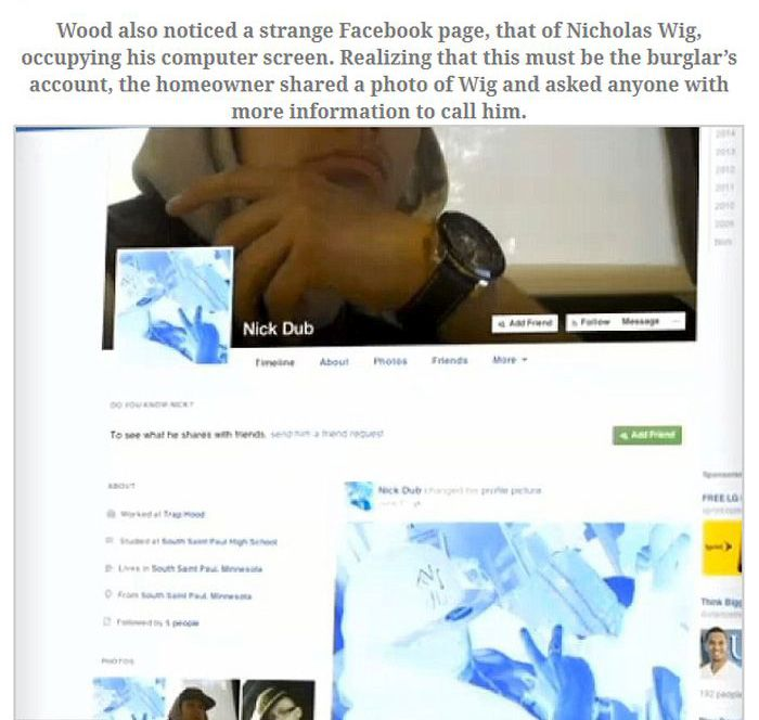 Burglar Gets Busted For Logging Onto Facebook