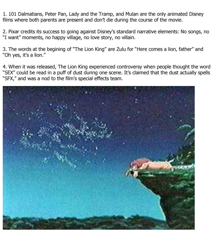 Amazing Facts You Didn't Know About Disney Movies