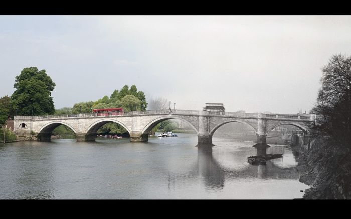 London's Bridges Past And Future Mashup