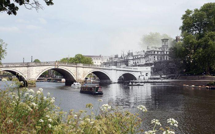 London's Bridges Past And Future Mashup