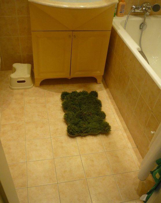 Homemade Grass Bath Mat