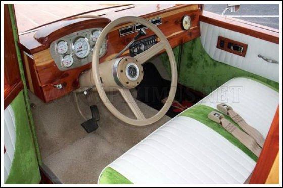 Unique V8 Wooden Car