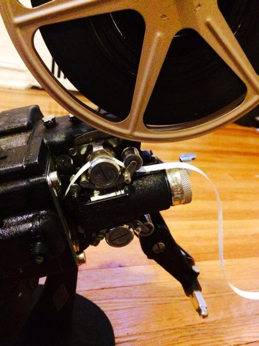 The Many Pieces Of A 1940s Film Projector