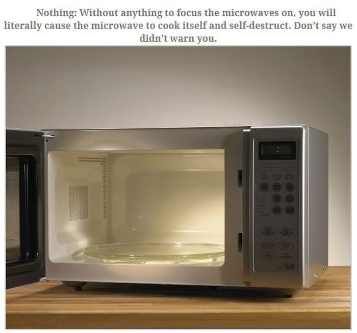 Don't Ever Put These Things In The Microwave
