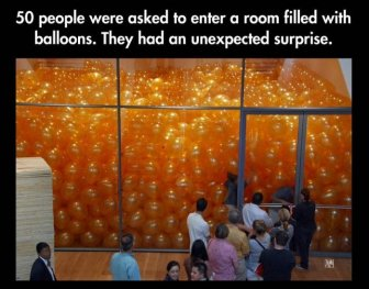 When 50 People Enter A Room Filled With Balloons