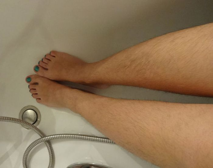 Women Showing Off Their Hairy Legs