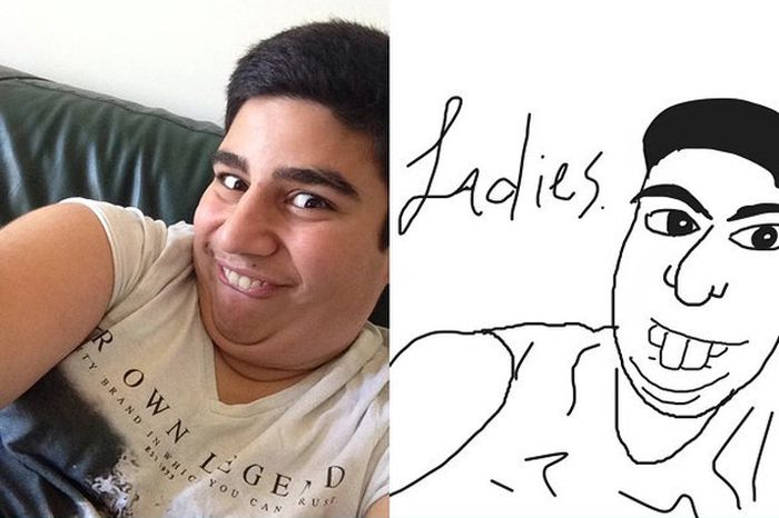 Selfies As Drawn By Strangers