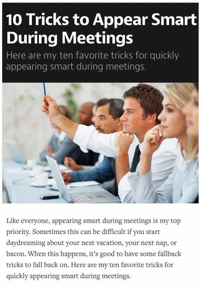 How To Convince People You're Smart In A Meeting