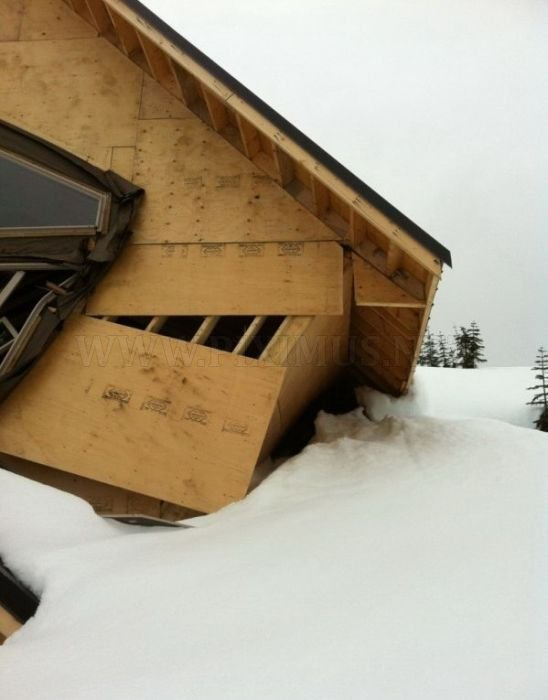 Houses Destroyed by Snow in Vancouver