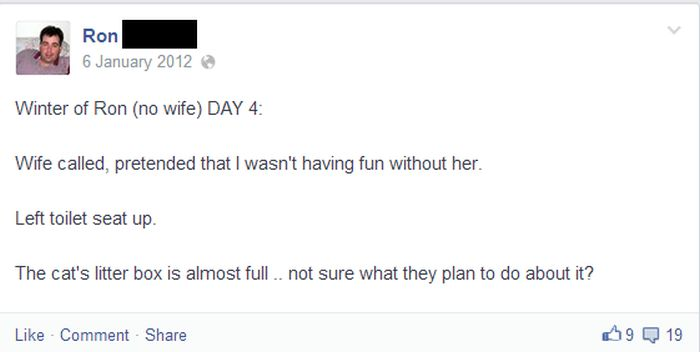 Life Without The Wife On Facebook