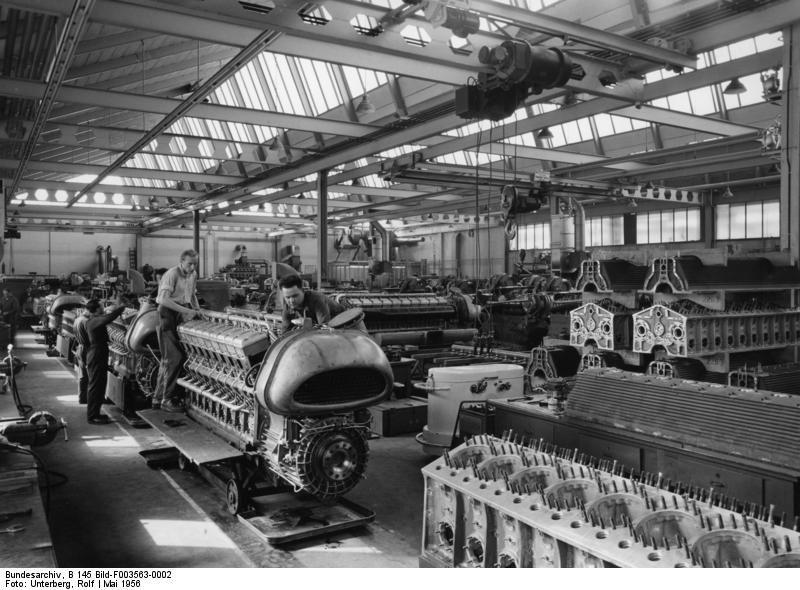 Mercedes-Benz Factory in 1956, part 1956