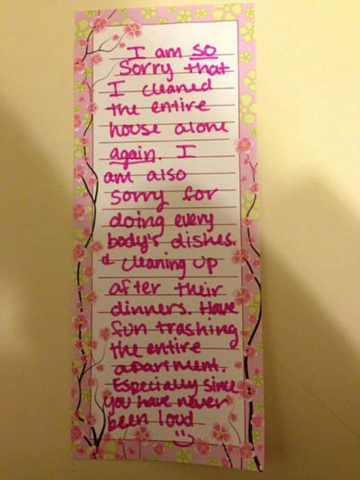 These Notes Sum Up Life With Roommates