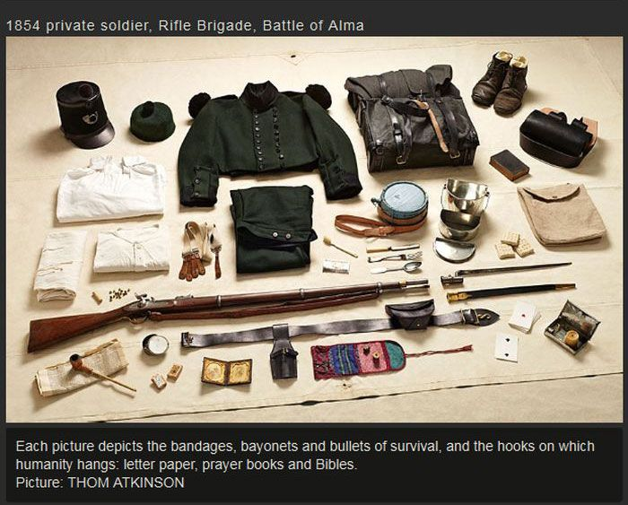 War Soldiers' Kits Back In The Day