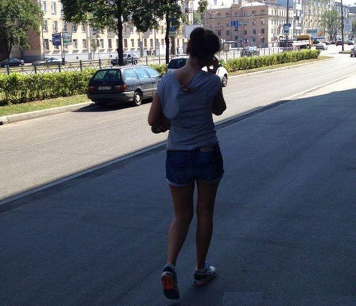 Woman Takes Snake For A Walk