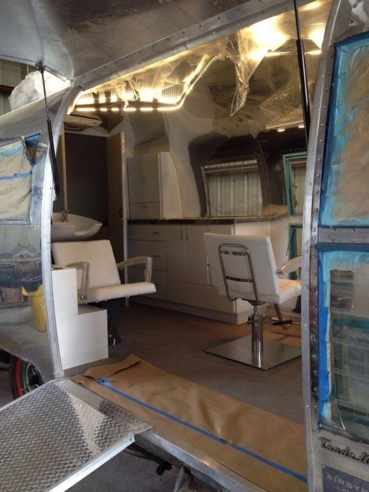 Old Camper Gets Converted Into A Hair Salon